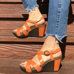 Dansko strappy wedges. Size 39.